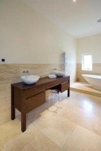 Walnut sink vanity