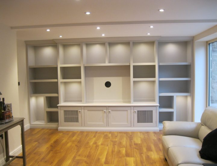 Hand Painted Bookcases