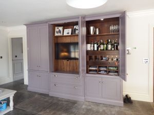 Harrogate handpainted media cabinet