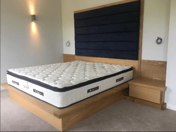 Made to measure oak bed and headboard in Harrogate